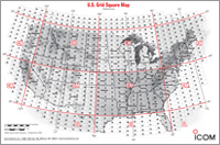 U S A Amateur Grid Square Map