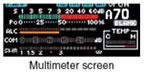 Multimeter screen