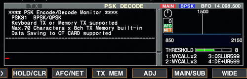 PSK Decode Screen
