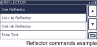 Reflector commands