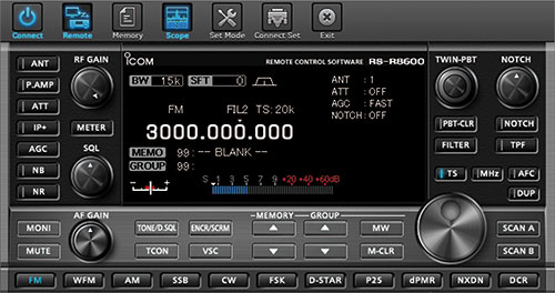 RS-8600 Remote Control Software