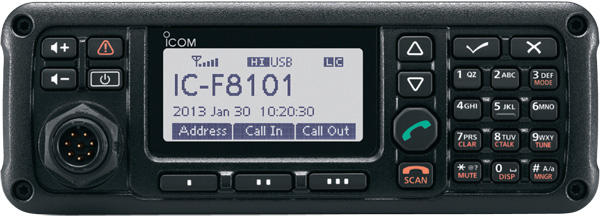 IC-F8101 front panel view