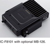 IC-F8101 with optional MB-126