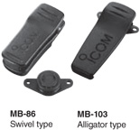 Belt clips - MB86 Swivel type and MB-103 Alligator type