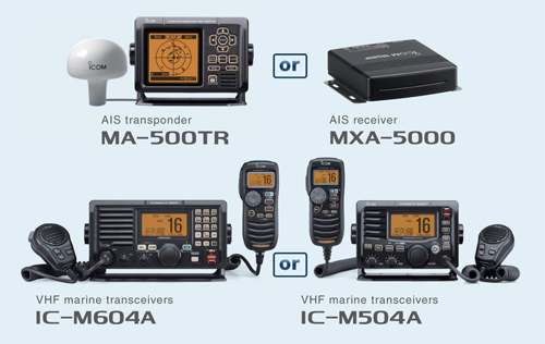 MarineCommander AIS transceivers and VHF transceivers